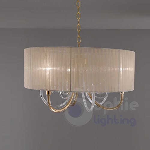 Pendelleuchte ø60C12223Leuchten Pendelleuchte Design Elegant modernen Stahl chrom gold-armig...