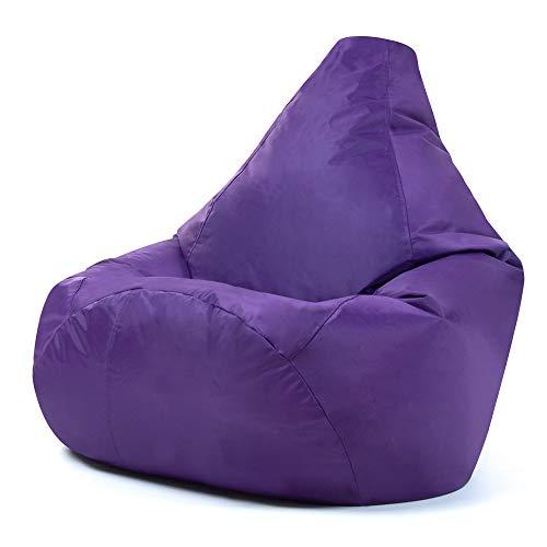 Hi-BagZ, Sitzsack mit hoher Rückenlehne, für den Garten, Violett, 100% wasserabweisend