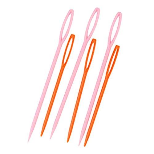 Sungpunet 6pezzi 2misure plastica mano aghi da cucito nozioni