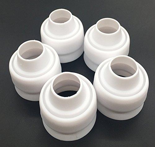 Russische Ball Piping Tip Koppler 4Pcs/set, Aixin für große Größe Icing Düsen schnell leicht anbringen und tauschen Piping Tipps auch Fit Silikon Gebäck Tasche Fit Silikon