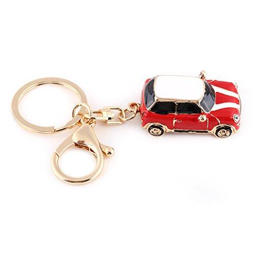 Zink-Legierung Auto Keychain, Mini Auto Schlüsselanhänger Für Männer, Frauen, Auto Dekorationen, Perfekte Weihnachtsgeschenke(Rot) (Kristall 2-licht-anhänger)