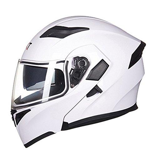 Jpfcak city scooter helmet scooter helmet casco da motociclista casco cruiser casco integrale casco sportivo ece certificazione m-xl,white-m