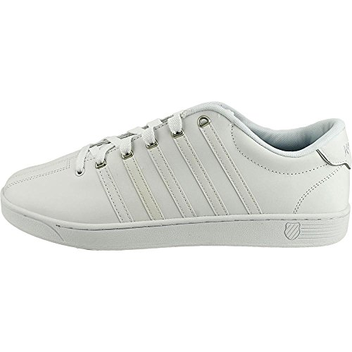 K-Swiss  Court Pro Ii Cmf, Herren Sneaker weiß weiß WHITE SILVER LEATHER
