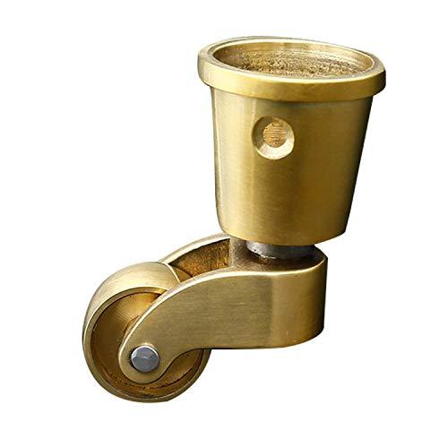 Reines Gummi (HFSK Lenkrollen Für Möbel, Europäische Möbelrollen Aus Reinem Messing Antikes Drehrad Aus Poliertem Messing Geeignet Für Möbelfamilienfabrik Copper)