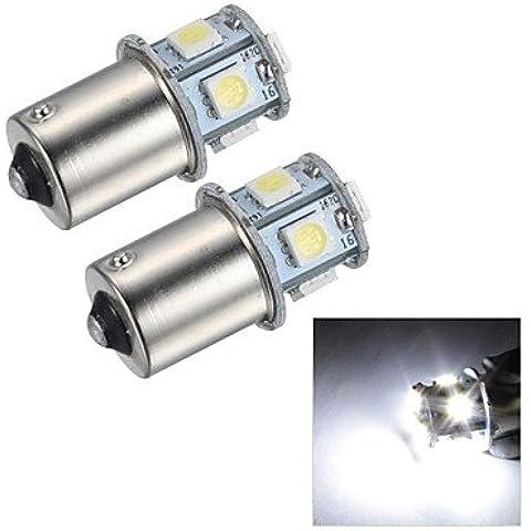 FULLModerna lampadina dell'automobile 1.5W 45LM 1156 8x5050SMD freno del LED bianco / retromarcia / segnale (Girata Del Lato Del Segnale Indicatore Luminoso)