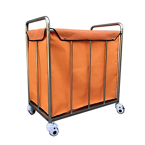 Hotel Wäschewagen Hochleistungshotel-rollender Wäscherei-Sortierer-Wagen mit Griff auf Rädern, tragbarer Lobby-Korrektor-Leinenwagen mit entfernbarem Speicherbeutel -