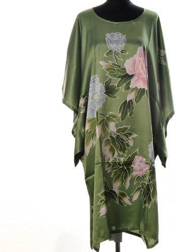 Shanghai Tone® Satin Floral Kimono Kimono Kimono Yukata Robe de Nuit Peignoir Pyjama Taille Unique Vert B00D3HKW3M 0288b4