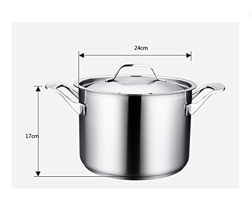 DD Soup pot stew 304 food grade stainless steel home heightening thickening non-stick ears stew cooker for Mother's Day Father's Day gift