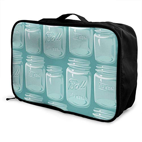 Gepäcktasche Reisetasche sghshsgh Perfect Travel Partner Large Capacity Travel Luggage Storage Bag Sleeve for Suitcase Trolley Handles Travel Duffel Tote Bag - Mason Jars (Kurze Jars Mason)