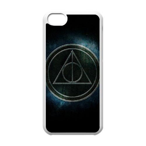 Deathly Hallows coque iPhone 5C Housse Blanc téléphone portable couverture de cas coque EBDXJKNBO10904
