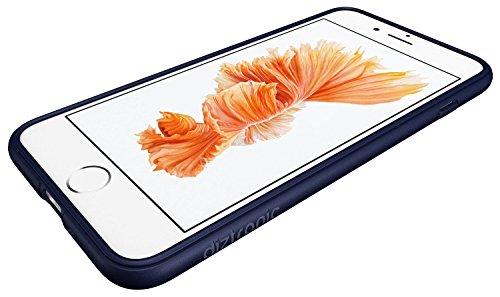 Diztronic 702168502616 Hülle für Apple iPhone 7 Plus schwarz Matte Navy Blue