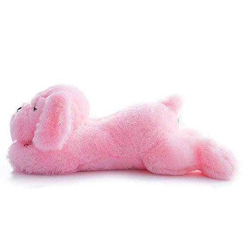 Preisvergleich Produktbild WSXXN Kreative Nachtlicht LED Kuscheltiere Schöne Stofftier Hund Glow Spielzeug Geschenke für Kinder 50 cm / 19, 69 zoll (Rosa und Blau) (Farbe : Pink)