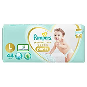 Pampers Premium Care Pants Diapers, Large, 44 Count