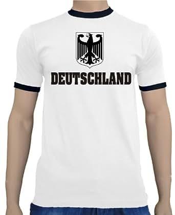 Touchlines 2010 Kontrast Ringer T-shirt - Homme - Blanc (Blanc/noir) - Taille S