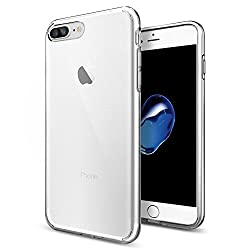Spigen 043CS20479 Liquid Crystal Kompatibel mit iPhone 8 Plus / 7 Plus Hülle, Transparent Silikon Durchsichtige Schutzhülle Case Crystal Clear