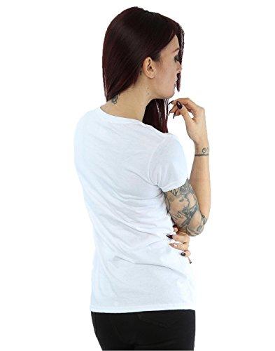 Disney Damen Angry Donald Duck T-Shirt Weiß