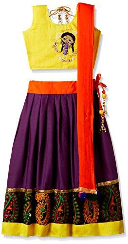 Chhota Bheem Girls' Lehenga Choli (GGAPP-CB559E_Violet_9-10 yrs)
