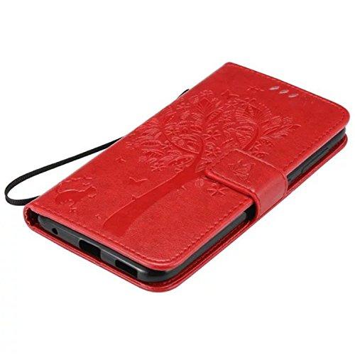 ARTLU® de Schutzhülle / Cover / Handyhülle / Etui / Folio / PU Leder / Wallet / Case für Asus ZenFone 3 ZD552KL Hülle Tasche Schutzhülle Flip Tasche Case Hülle im Bookstyle mit Standfunktion Kredit Ka A8