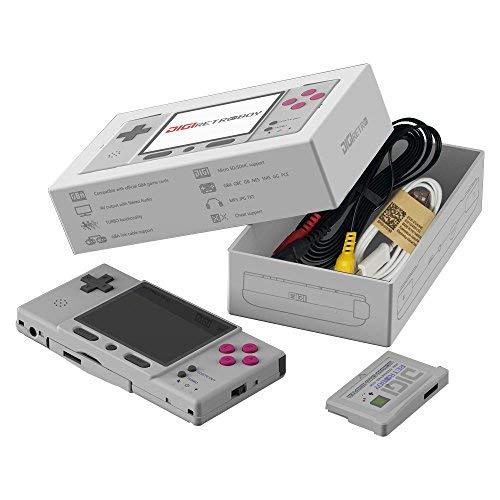 GZW-SHOP GBA Retro Classic Konsole DIGI Retroboy mit Spielkarte (Grau) -