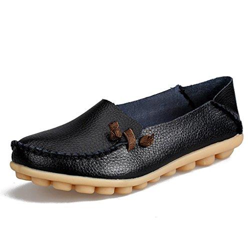 e69948479c09 Grande Taille Femme Loafers Flats Mocassins Plates en Cuir,Overdose Soldes  Automne Hiver Chaussures à