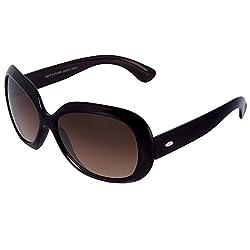 Silver Kartz Oval Unisex Sunglasses(Wy061|40|Brown)