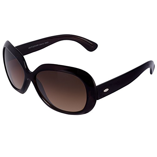 Silver Kartz Oval Unisex Sunglasses(Wy061|40|Brown)