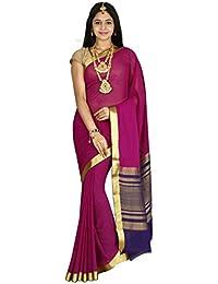 Arars Crepe Silk Saree Mysore Silk Saree (CRP01 PURPLE)