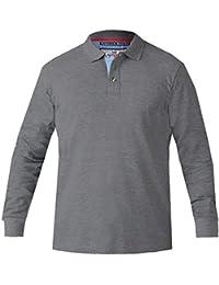 3e0137ac9 D555 Duke Mens Darvin Big Tall Long Sleeve Pique Polo Shirt