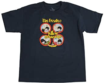 Beatles, The - Youth Yellow Sub Hand Waves T-Shirt, XX-Large, Black