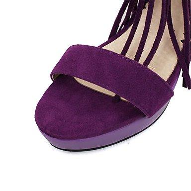 LvYuan Da donna-Sandali-Matrimonio Ufficio e lavoro Casual-Innovativo Club Shoes-A stiletto-Felpato Materiali personalizzati-Nero Viola Rosso Black