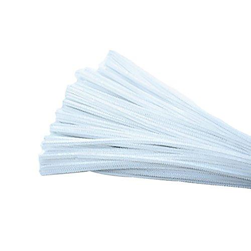 ger Plüsch für DIY Handwerk Dekorationen 30cm x 6mm Weiß ()