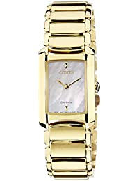 Citizen Damen-Armbanduhr Citizen L Analog Quarz Gold EG2973-55D