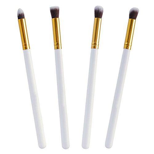 Baosity Kit 4pcs Pinceaux de Maquillage Brush make-up Doux et Confortable pour Peinture Visage / Ombre à Paupières Blending / Lip Gloss