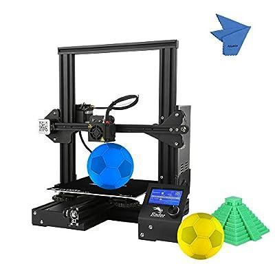 Creality 3D Ender-3 3D Drucker DIY Einfach zu montieren 220 * 220 * 250mm Druckgröße mit Lebenslauf Drucken Unterstützung PLA, ABS, TPU