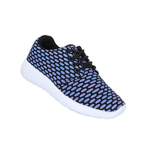 Damen Schuhe Freizeitschuhe Sneakers Turnschuhe Blau