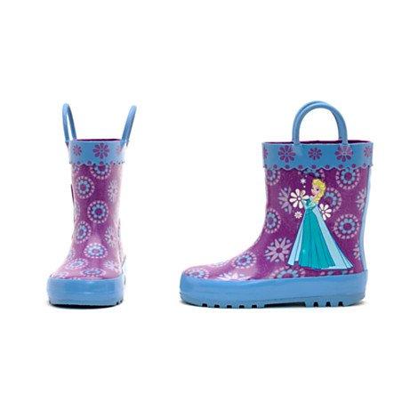 Ufficiale Disney --- Stivali da pioggia bimba Frozen , Elsa Anna- Il Regno di Ghiaccio - Taglia UK 9 , EU 27