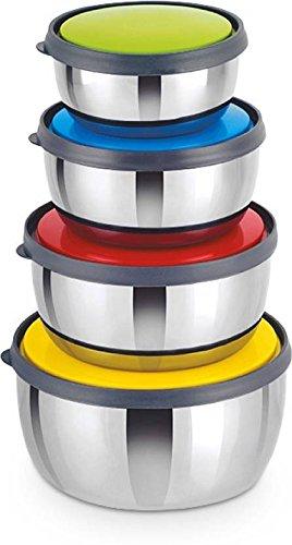 Classic Essentials - 350 ml, 650 ml, 950 ml, 1250 ml Stainless Steel Food Storage