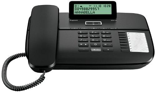 Gigaset DA710 Telefon, Schnurgebundes Telefon / Schnurtelefon, Display, Freisprechen, Stummschaltung, Mute, Analog Telefon, schwarz