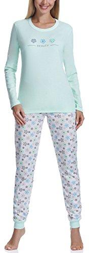 Italian Fashion IF Pijamas para mujer Finezja M007 (Menta, L)
