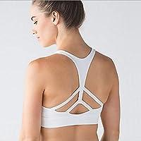 WANYHHA Sujetador de Yoga Cruz de Acero Belleza Atrás Fitness Ropa Interior para Mujer Ropa Deportiva de Deportes de Moda, Blanco, S