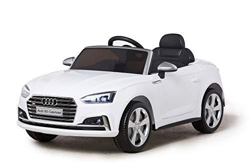 Toyas Audi S5 Kinder Elektro Auto Sportwagen Cabriot Kinderfahrzeug 12V Weiß