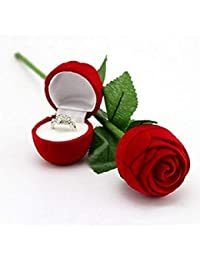AASA Special Engagement Gift Red Rose Gift Box Without Ring for Wife and Husband, Red, 15Grams, Pack of 1