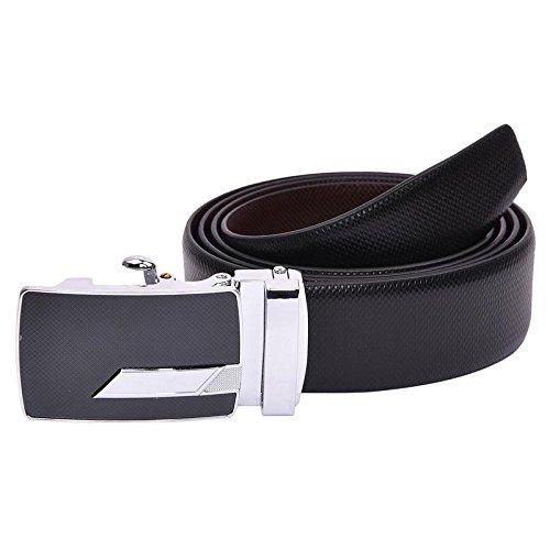 B&W Premium Reversible Belt for Men's- Leather- 35MM- Auto Lock Buckle(BW781)