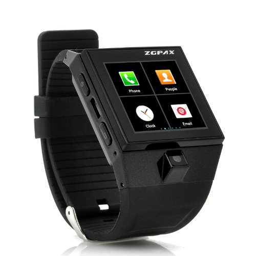ZGPAX-Android-Smart-Phone-Watch-154-Inch-Dual-Core-1GHz-20MP-WiFi-GPS-4GB-Black