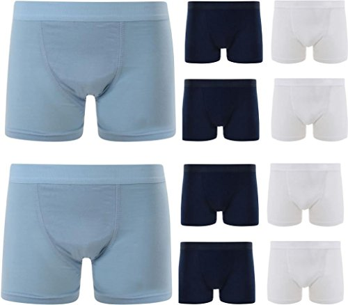 10 pairs of 100% Cotton Boys Boxer Short Super Quality Underwear (Age 10-12)