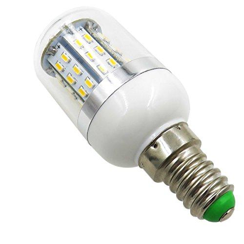 Aiyowei E143W LED Lampadina di mais con copertura 48–3014SMD AC/DC 12V-24V a prova di esplosione candela luci bianco 6000K (confezione da 2)