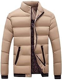 JYJM Herren Stehkragen Dünnen Mantel Herren Dicken Mantel Herren Winter  Warme Baumwollkleidung Herren Daunenjacke Männer Reißverschluss dac0964559