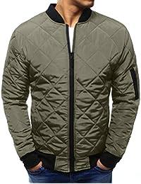 VICGREY Giacca da Uomo Classico Invernale Cappotto Caldo Giubbini Manica  Lunga Camicia Elegante Maglia Autunno Inverno ac4b445b21f