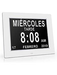 Reloj calendario con fecha, día y hora   Reloj Alzheimer   Reloj Tercera Edad