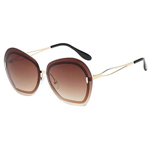 Oyedens Sonnenbrillen mit unregelmäßiger Form der Dame - Unregelmäßigkeit-Rahmen der Art- und Weisefrauen schattiert Acetat-Rahmen-UVbrillen-Sonnenbrille